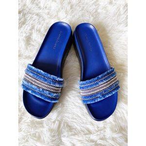 Donald J Pliner Blue Fiji Platform sandal size 8.5